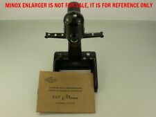 VEF RIGA MINOX ENLARGER MANUAL IN RUSSIAN, RARE