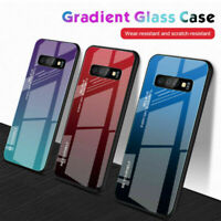 Luxury Tempered Glass Hard Case Cover For Samsung Galaxy S10 S8 S9 Plus Note 10+