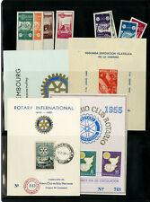 World Stamp Selection 1950s Rotary First Day Program Cards