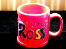CHILDS WELL MADE COLOURFUL NAMED MUG  ** ROSS **  IN RED