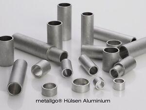 metallgo® Aluminium Alu Hülsen | Distanzhülsen Abstandshülsen Abstandshalter
