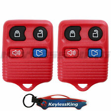 Replacement for Ford Mustang - 99 2000 2001 2002 2003 2004 2005 2006 Remote Red