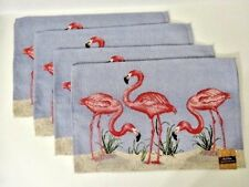 Flamingo Tapestry Placemats Set of 4 Park B. Smith Tropical Bird Tabletop A