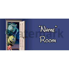 Disney Monsters Inc Personalised Bedroom Door Sign - Any Text (4)