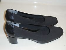 EASY SPIRT Pumps Women's Size 8N  Leather and Canvas Heels