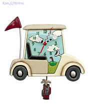 Fantastic STAY THE COURSE Golf Buggy Designer Wall Clock by Allen Designs