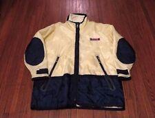 VTG 80's 90's Tommy Hilfiger Sailing Gear Yellow Navy Windbreaker Jacket sz L
