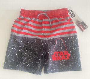 Star Wars Boys Swim Trunks Size 4 UPF 50+ Darth Vader Galaxy NEW