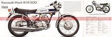 KAWASAKI 500 H1 Mach 3 1969 Fiche Moto 000532
