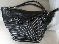 Large Zipper Tote by Chocolate New York Black