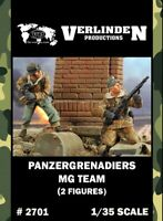Verlinden 1:35 Panzergrenadiers MG Team - 2 Resin Figures Kit #2701