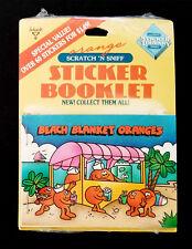 Vintage HALLMARK Scratch & Sniff Stickers Booklet BEACH BLANKET ORANGES Book
