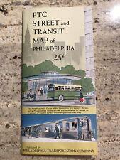 Vintage 1960 Philadelphia Transportation Ptc Street Transit Map Guide Train Bus