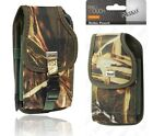 CAMO Pouch tree army Green Metal belt clip for phones LG Moto Samsung iPhone