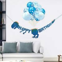 NEW Dinosaur Child Happy Birthday Foil Banner Balloons Bunting Party Decoration