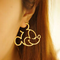 Cute Mickey Hoop Earrings for Women Cartoon Mouse Animal Earrings Aretes De Moda