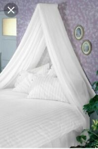WHITE bed canopy single or double bed princess adult feature - piece missing