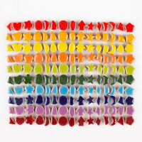 100G Glass Mosaic Tiles Star Dots Flower Decal Arts DIY Crafts Home Wall Decor