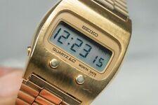 Seiko LC Watch Digital Quartz Gold Tone Vintage Seiko 0439-5007