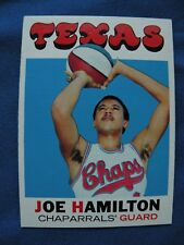 1971/72 Topps Joe Hamilton Texas Chaparrals' card #164 NBA basketball $1 S&H