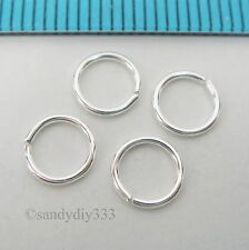 20x BRIGHT STERLING SILVER 6mm ROUND OPEN JUMP RING 21GA 0.7mm N772