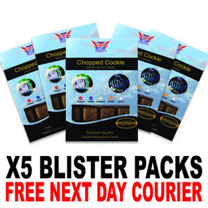 Frozen Fish Food 100g BCUK Blister packs Chopped Cockle x5
