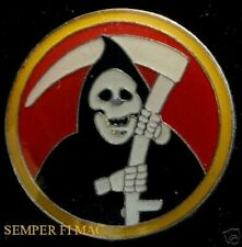 CLASSIC GRIM REAPER HAT LAPEL PIN SKULL DEATH REAPER BIKER ANGEL of DEATH GIFT