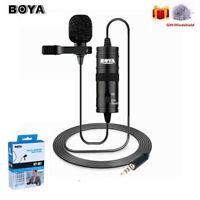 BOYA BY-M1 3.5mm Audio Lavalier Lapel Microphone F iPhone DSLR Camera Recorder