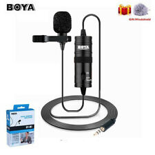 BOYA BY-M1 Condenser Lavalier Clip-on Microphone for Phone Camera Camcorder PC