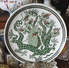 Vintage Iznik Elhamra Cini Fab Kutahya Hand Painted Seven Headed Dragon Plate