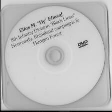 ELIAS ELIASOFF 8TH INF. DIVISION HURTGEN FOREST & ETO VETERAN RARE INTERVIEW DVD