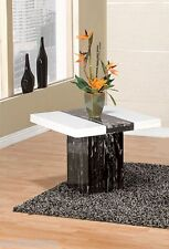 New Marble Black & White color End Table Living room Furniture Square top table