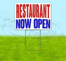 Restaurant Now Open Yard Sign Corrugated Plastic Bandit Lawn Decorations Usa