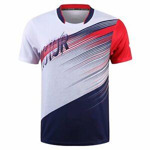 Men Badminton T-Shirts Tennis clothes Polyester Sport Tops New