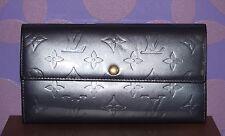 LOUIS VUITTON Vernis Leather Sarah Long Wallet PURPLE Iridescent Indigo LIMITED!