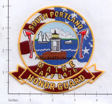 Maine - South Portland Honor Guard ME Fire Dept Patch Lighthouse