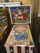 Vintage Big Top Carnival Pinball Machine Coin Operated Sideshow
