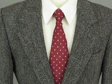 Harris Tweed Wool Men 42S Black White Herringbone Blazer Sport Coat Jacket