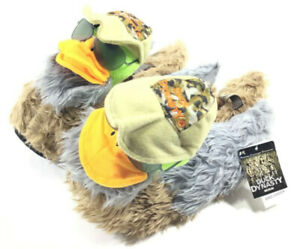 Duck Dynasty Men's Duck Slippers Faux Fur A&E Size Medium 2013 New With Tags