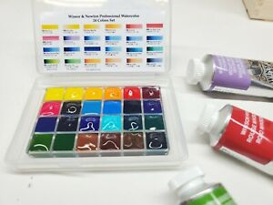 Winsor and Newton Professional Watercolor Sample Set of 24 Colors