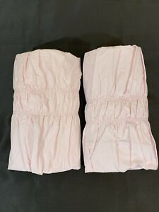 Set of 2 Simply Shabby Chic Pink Ruched King Size Cottage Chic Pillow Shams