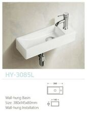 AIR tap hole on left/right WALL HUNG Art Basin w/ pop up plug