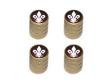 Fleur de Lis - Saints Tire Rim Valve Stem Caps - Gold