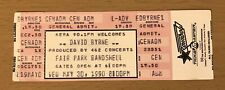 1990 David Byrne Dallas Concert Ticket Stub Talking Heads Stop Making Sense