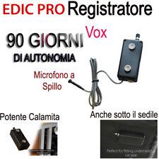 MICRO REGISTRATORE SPIA VOCALE 90 GIORNI SPY AMBIENTALE MICROSPIA PROFESSIONALE
