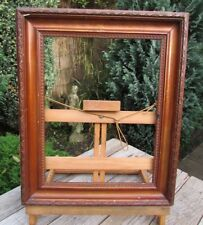 VINTAGE ANTIQUE PLASTER OVER WOOD PICTURE FRAME WITH LAMBS TONGUE