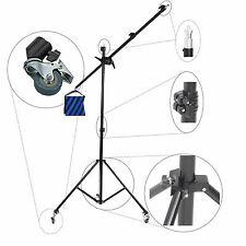 Trépied Girafe Bras Telescopique FS502 Pied Stand Boom Studio + 3x Roues