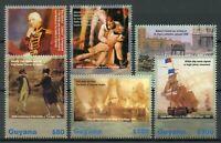 Guyana 2005 MNH Battle of Trafalgar 200th Anniv 6v Set Lord Nelson Ships Stamps