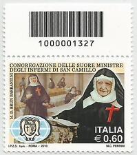 REPUBBLICA ITALIANA - 2010 Suore di San Camillo 0,60 con codice a barre 1327
