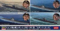 Hasegawa 30034 1/700 Model Kit WWII German Submarine Type VIIC/IXC U-Boat(4kits)